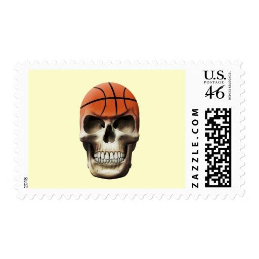 Basketball Skull Postage