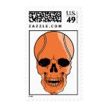 Basketball Skull Postage Stamp