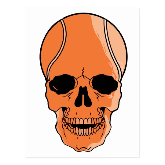 Basketball Skull Postcard