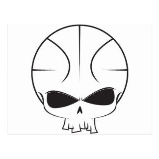 Basketball Skull Postcard