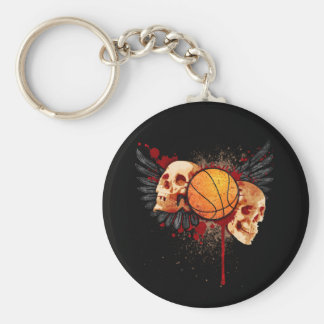 Basketball Skulls with Wings Keychain