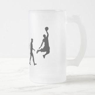 Basketball slam dunk evolution of basketball gift coffee mug