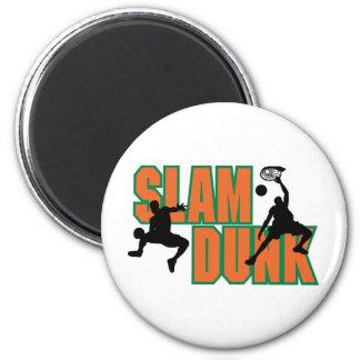 Basketball Slam Dunk Fridge Magnets