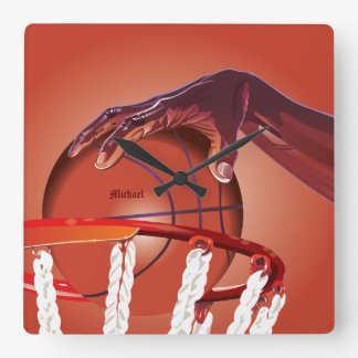 Basketball Slam Dunk Point Wall Clock