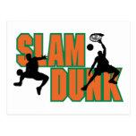 Basketball Slam Dunk Postcard