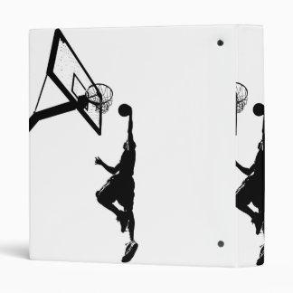 Basketball Slam Dunk Silhouette Binder