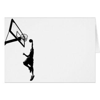 Basketball Slam Dunk Silhouette Card