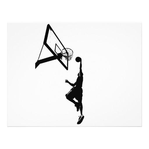 Basketball Slam Dunk Silhouette Flyer Design