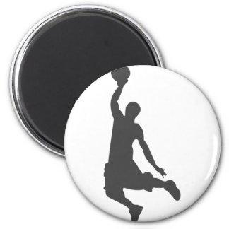 Basketball Slam Dunk silhouette Refrigerator Magnets