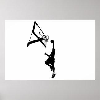 Basketball Slam Dunk Silhouette Poster