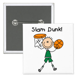 Basketball Slam Dunk T-shirts and Gifts Button