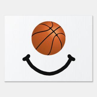 Basketball Smile Sign