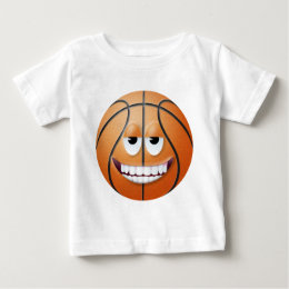Basketball Smiley Face 2 Baby T-Shirt