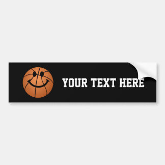Basketball smiley face bumper stickers