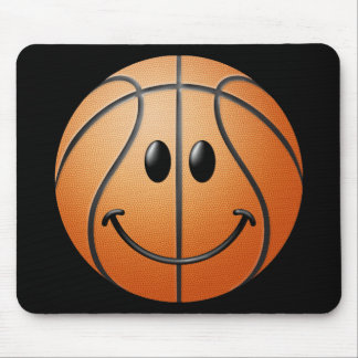 Basketball Smiley Face Mouse Pad