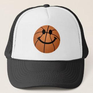 Basketball smiley face trucker hat