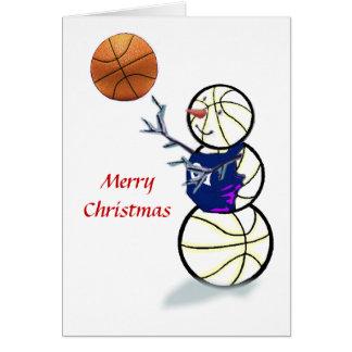 Basketball Snowman Christmas Cards