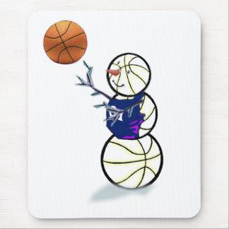 Basketball Snowman Christmas Mouse Pad