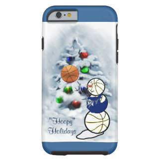 Basketball Snowman Christmas Tough iPhone 6 Case
