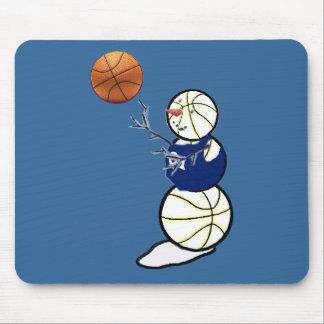 Basketball Snowman Mouse Pad