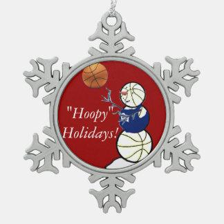 Basketball Snowman Ornaments
