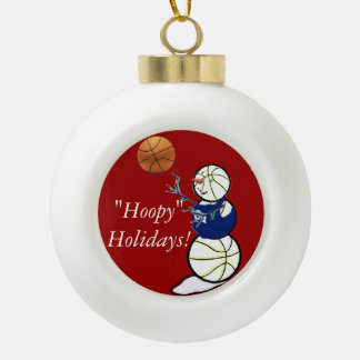 Basketball Snowman Ornament