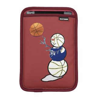Basketball Snowman Sleeve For iPad Mini