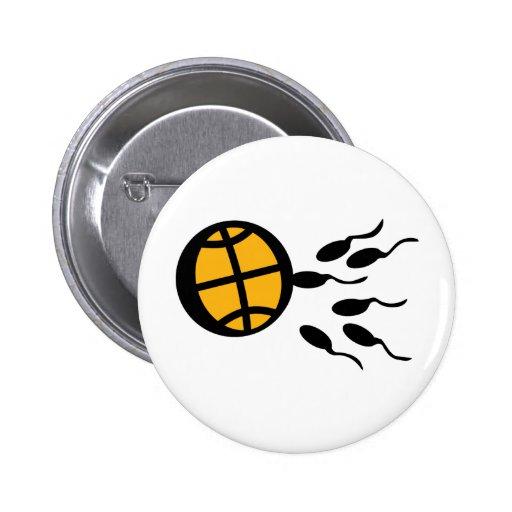 basketball sperm icon 2 inch round button