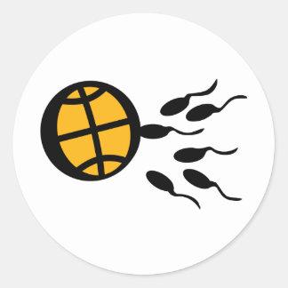 basketball sperm icon sticker