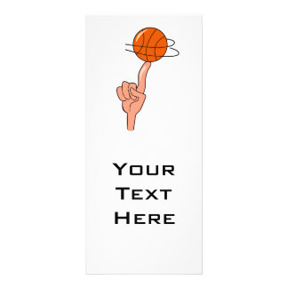 basketball spin on finger graphic rack card