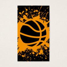 Basketball Splatz Business Card at Zazzle