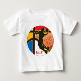 Basketball Sport Abstract Design Baby T-Shirt