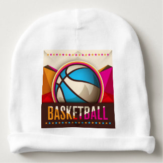 Basketball Sport Ball Game Cool Abstract Baby Beanie