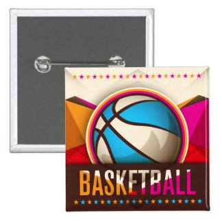 Basketball Sport Ball Game Cool Abstract Button