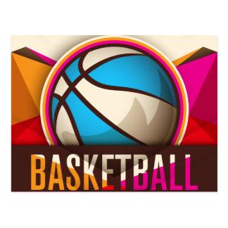 Basketball Sport Ball Game Cool Abstract Postcard