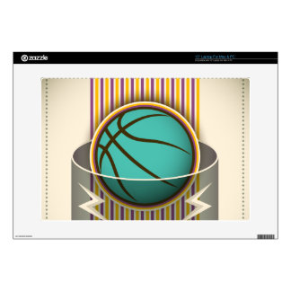 """Basketball Sport Ball Game Cool Decal For 15"""" Laptop"""