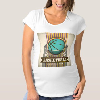 Basketball Sport Ball Game Cool Maternity T-Shirt