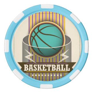 Basketball Sport Ball Game Cool Poker Chip Set