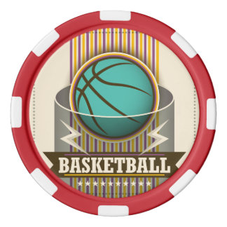 Basketball Sport Ball Game Cool Poker Chips