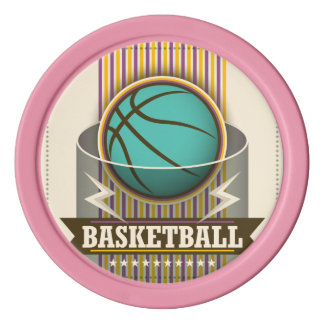 Basketball Sport Ball Game Cool Poker Chips Set