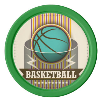 Basketball Sport Ball Game Cool Set Of Poker Chips