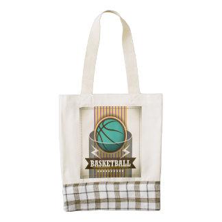 Basketball Sport Ball Game Cool Zazzle HEART Tote Bag