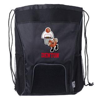 Basketball Sport Character | DIY Name Drawstring Backpack
