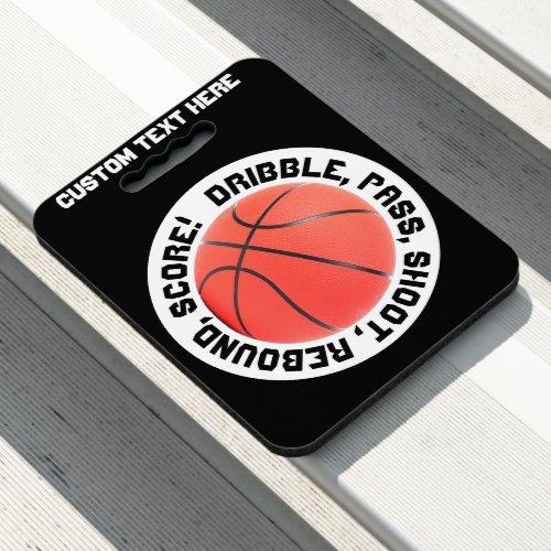 Basketball Sport Design Custom Text Stadium Seat Cushion