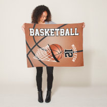 Basketball Sport Design Fleece Blanket