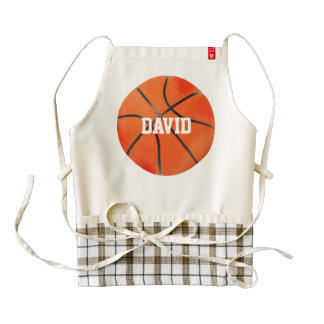 Basketball | Sport Gifts Zazzle HEART Apron