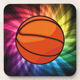 Basketball; Sport; rainbow Beverage Coaster