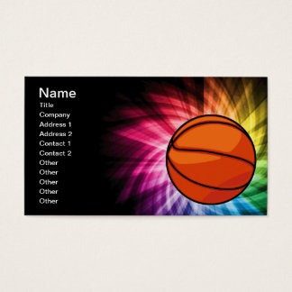 Basketball; Sport; rainbow Business Card