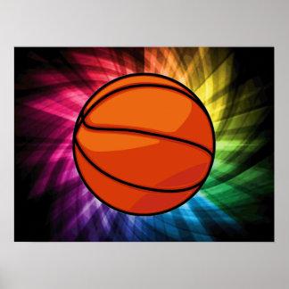 Basketball; Sport; rainbow Poster