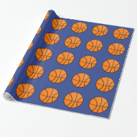 Basketball Sports Birthday Kids Wrapping Paper